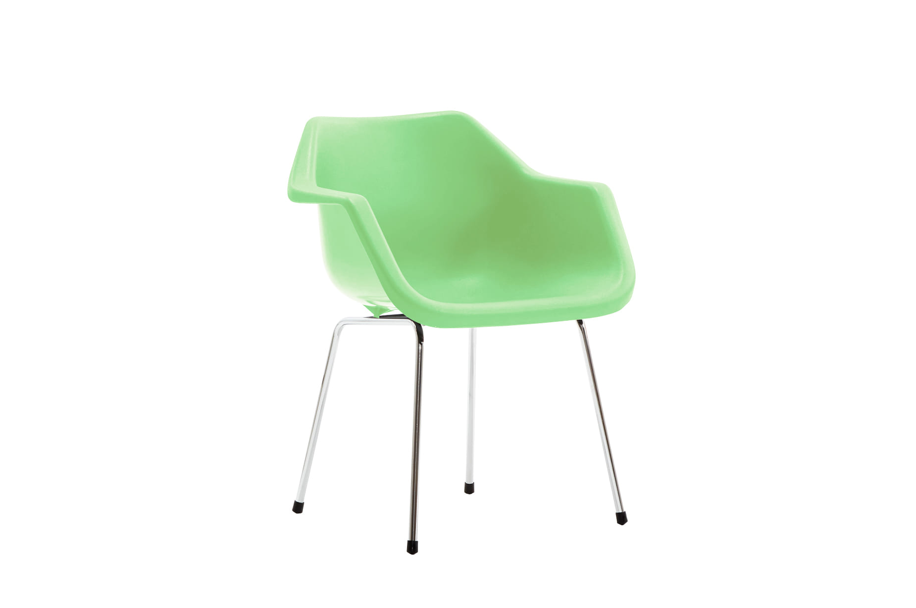 (주)도이치[BRITISHER] POLYPROP armchair by Robinday 1967, chromed leg  / Special Edition _English green for BRITISHER